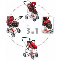 VEŽIMĖLIS LĖLĖMS EMOTION All IN 3 in 1 (Orbit red)