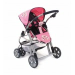 doll pram JOYRIDER 2 in 1 (Pink checker)