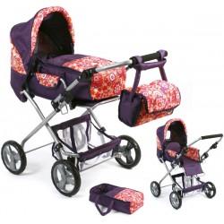 Doll stroller BAMBINA (Orange Plums)