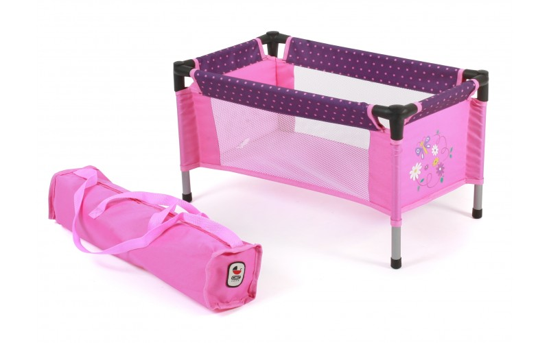Travel Cot (Dots Purple Pink)