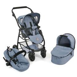 Doll Stroller EMOTION All IN 3 in 1 (Jeans blau)