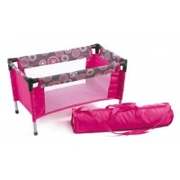 Travel Cot (Hot Pink Pearls)