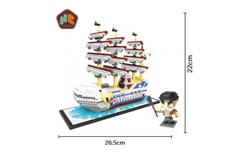 Laivas Baltas Mini kaladėlės