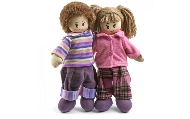 Two soft dolls