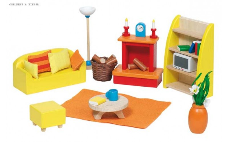 Furniture for flexible puppets, living-room