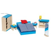 Furniture for flexible puppets, bedroom