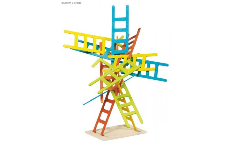 Balancing and stacking game, ladders