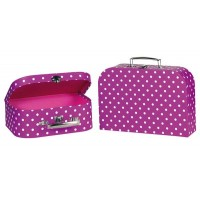 Suitcases purple