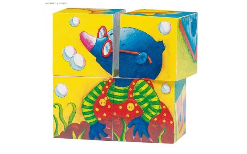 Spring, cube puzzle