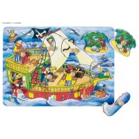 Puzzle with hidden pictures, Pirate ship