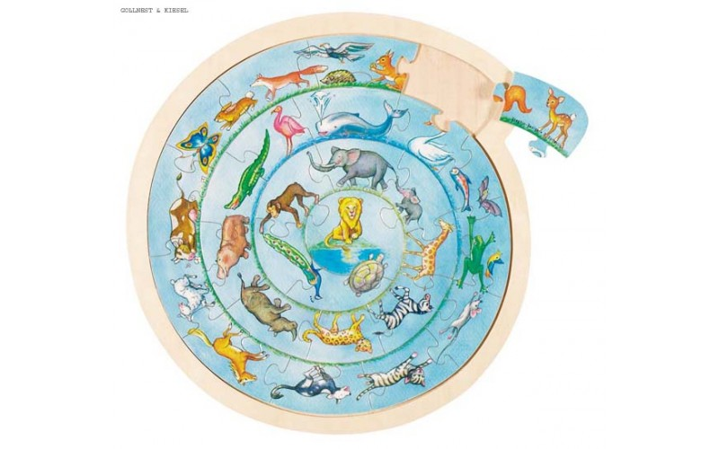 Puzzle animal's circle