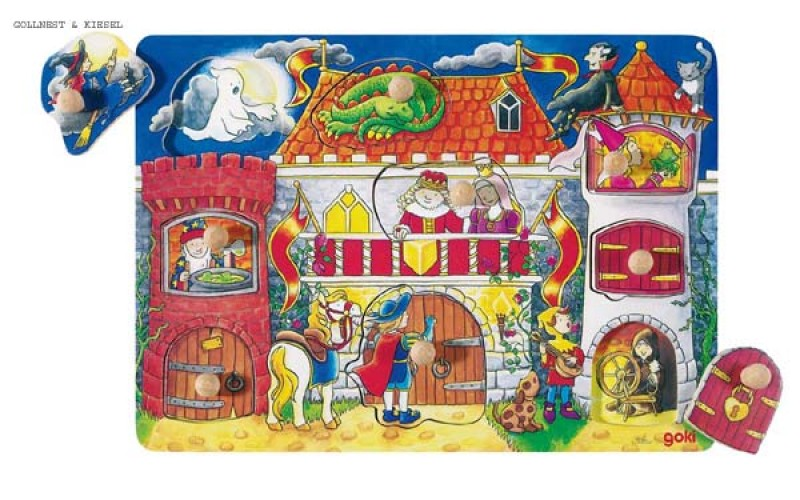 Puzzle with hidden pictures, castle