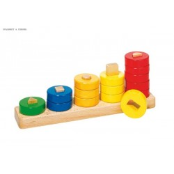 Learn to count with wooden ring