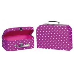 Suitcases purple